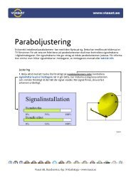 Paraboljustering - Viasat