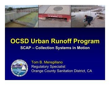 OCSD Urban Runoff Program OCSD Urban Runoff Program - SCAP