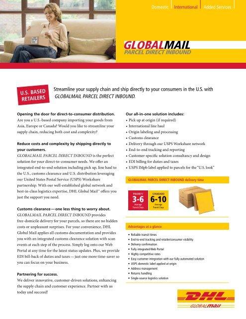 Globalmail Parcel Direct Inbound Dhl Global Mail