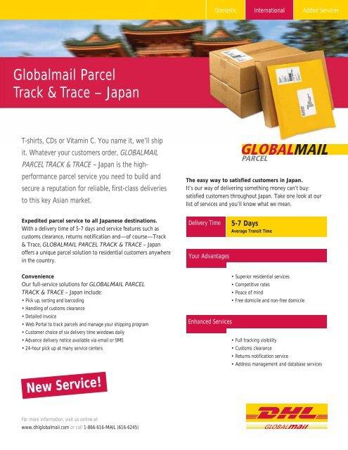 Globalmail Parcel Track & Trace – Japan - DHL Global Mail