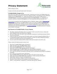 Privacy Statement - mediaserver - Thinkorswim