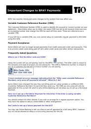 Changes to BPAY payments December 2011 - TIO