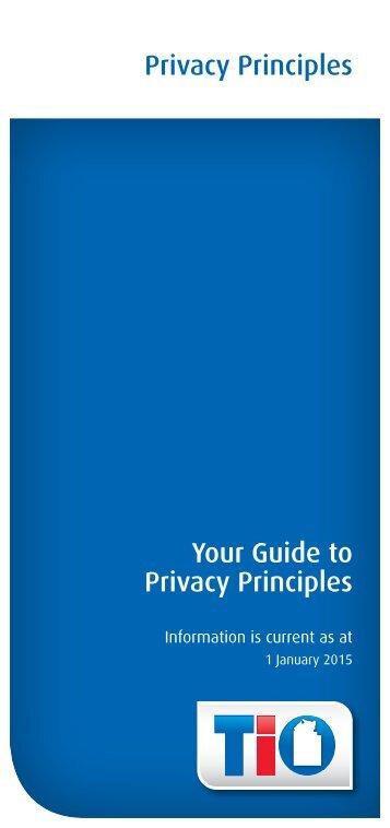 Privacy Principles brochure - TIO