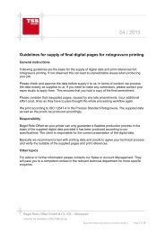 Guidelines for supply of final digital pages for ... - Bagel Roto-Offset