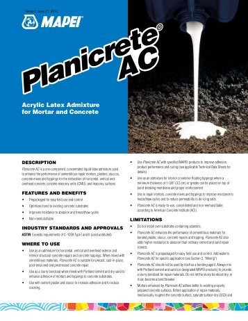 Planicrete AC Planicrete AC - Northland Construction Supplies