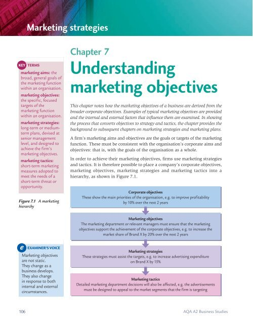 strategy hierarchy for a marketing firm
