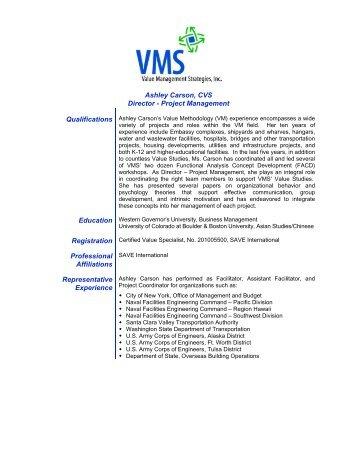 ashley carson cvs director value management strategies inc