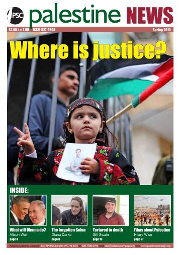 magazine online - Palestine Solidarity Campaign