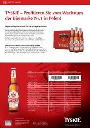 TYSKIE – Profitieren Sie vom Wachstum der Biermarke Nr.1 in Polen!