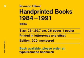 Handprinted Books
