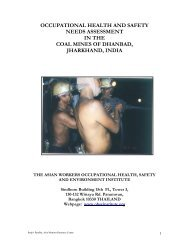 Occupational Health and Safety Needs Assessment in Coal Mines of ...