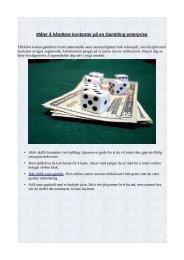 Måter å håndtere kontanter på en Gambling enterprise