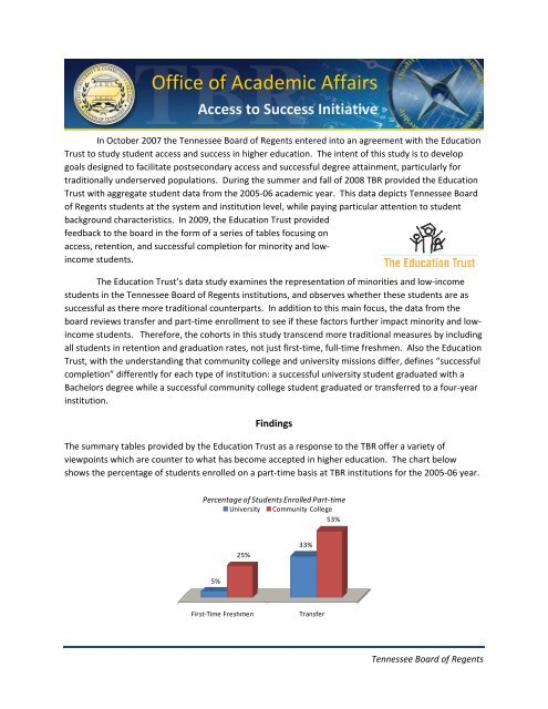 Tennessee Board Of Regents >> Brief On Access To Success Tennessee Board Of Regents