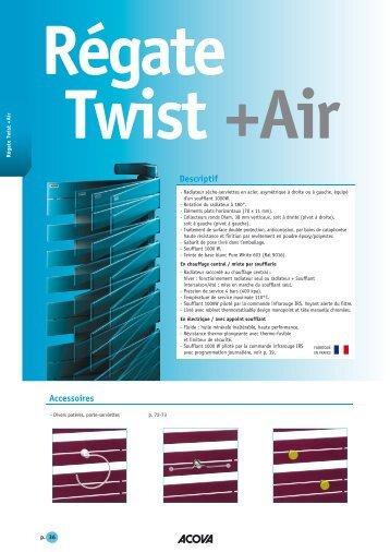 seche serviette acova regate twist air radiateurs acova. Black Bedroom Furniture Sets. Home Design Ideas