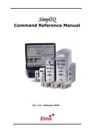 Command Reference for Gold Line Drives - Elmo Motion Control