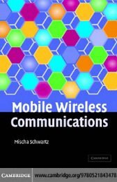 Mobile Wireless Communications - Department of Electrical ...