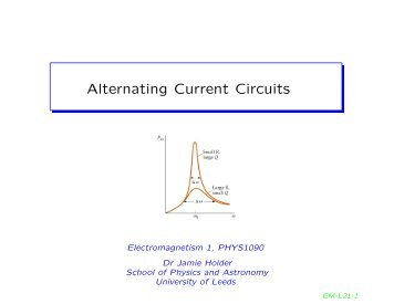 Alternating Current Circuits - University of Leeds