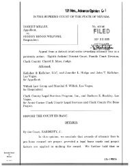 Miller v. Wilfong Nevada Supreme Court Opinion - Willick Law Group