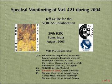 My Talk on Mrk 421 (India, ICRC 2005) - University of Leeds