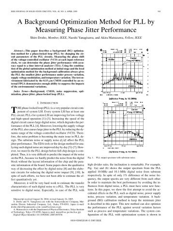 A Background Optimization Method for PLL by ... - IEEE Xplore