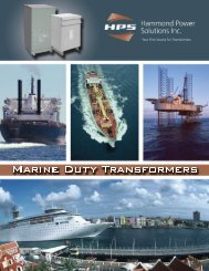 Marine Duty Transformers This brochure explains the different ...