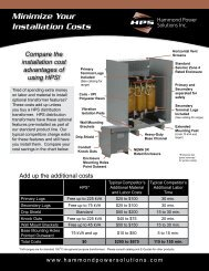 HPS Sentinel Features and Benefits Flyer - Hammond Power ...