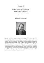 Carbon offsets, the CDM, and sustainable development Diana M ...