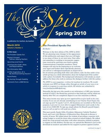 March 2010, Volume 6, Number 2 - Local37.teachers.ab.ca - Alberta ...