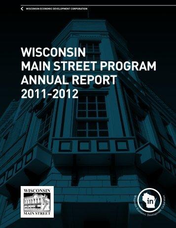 wisconsin main street program annual report 2011 ... - In Wisconsin