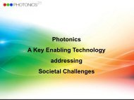 Photonics A Key Enabling Technology addressing Societal Challenges