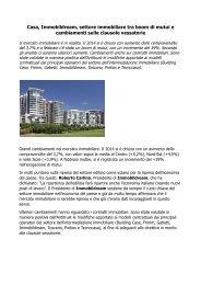 Clausole vessatorie Immobildream, Cambiamenti sui contratti immobiliari