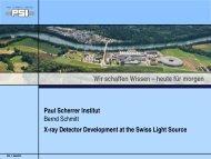Paul Scherrer Institut - Joint Instrumentation Seminar - Desy