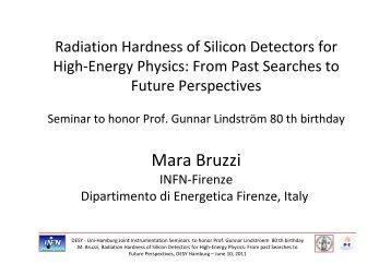 Mara Bruzzi - Joint Instrumentation Seminar - Desy