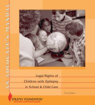 Legal Rights of Children with Epilepsy in School & Child Care