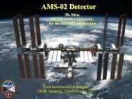 AMS-02 Detector - I. Physikalisches Institut B - RWTH Aachen ...