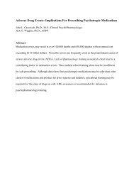 Implications For Prescribing Psychotropic Medications - American ...