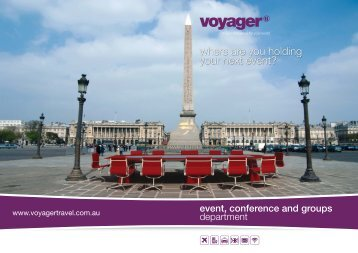 event, conference and groups - Voyager