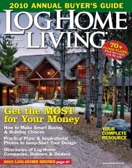 Get the MOST for Your Money - Pioneer Log Homes Midwest