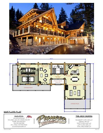 high sierra 1 main pioneer log homes of bc. Black Bedroom Furniture Sets. Home Design Ideas