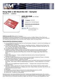 Korg ESX-1 SD Electribe SX - Sampler