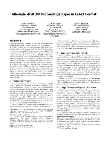 Alternate ACM SIG Proceedings Paper in LaTeX Format - SIGKDD