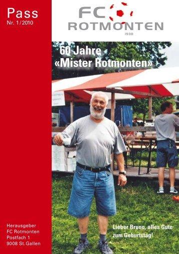 60 Jahre «Mister Rotmonten» - FC Rotmonten