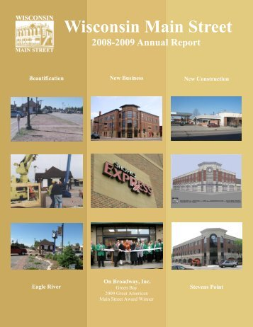 Street Annual Report 2008-2009 - In Wisconsin