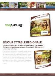Séjour et table régionale