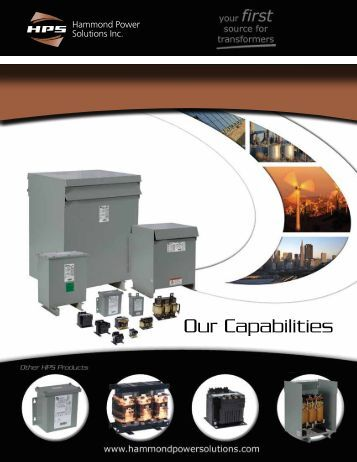 Our Capabilities - Hammond Power Solutions