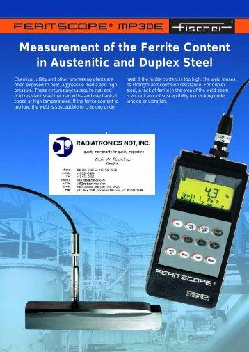 Feritscope MP30E engl_06.05 - Radiatronics NDT Inc.