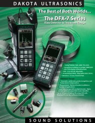 Dakota Ultrasonics DFX-7 Flaw Detector & Thickness ... - Instrumart