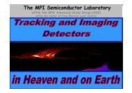 Detector Structures - Joint Instrumentation Seminar - Desy