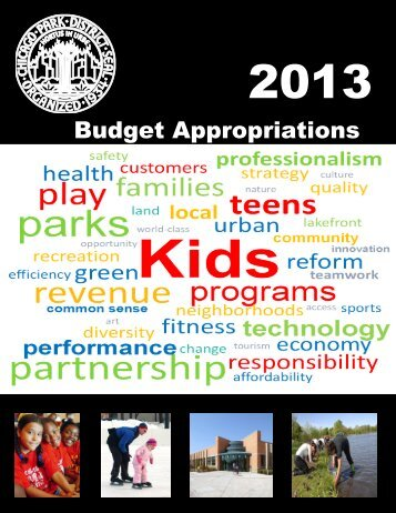 2013 Budget Appropriations - Chicago Park District