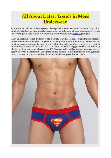 All About Latest Trends in Mens Underwear